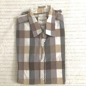 Stanza Vineyard LongSleeve Button Down Shirt 161/2